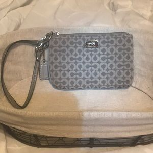 Vintage, Gray Coach wristlet bought the 1-2 yr